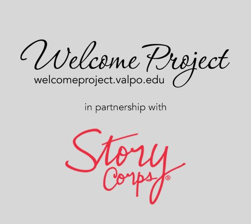 welcome project and storycorps logos