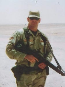 man in military gear